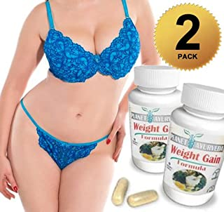 1, 2, 3 or 4 Pack. GAIN CURVES Gain weight pills for women. Planet Ayurveda. Skinny Women gain weight. Gain fast weight for women. Brand New booty, hips & bust! Butt Enlargement (2 Bottles Pack)