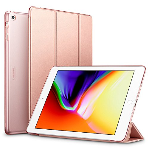 ESR Case for iPad Air, Ultra-slim Lightweight Smart Case with Trifold Stand and Auto Sleep/Wake Function, Microfiber Lining, Translucent Frosted Back Cover for iPad Air,Rose Gold