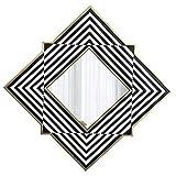 Z-LIANG Mirror Gran Colgar de la Pared de Espejo, Marco de Madera Cuadrado de Espejo de Pared, Gran Sala de Estar baño Espejo de Pared Decorativos Pared del Espejo Maquillaje