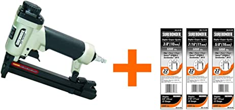 Surebonder 9615A-300-3A 22G Pneumatic Upholstery Staple Gun Kit-includes15,000 Staples (Air Compressor Needed Not Inlcuded)