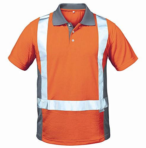 Elysee® Warnschutz-Poloshirt, warnorange/grau, Gr. L
