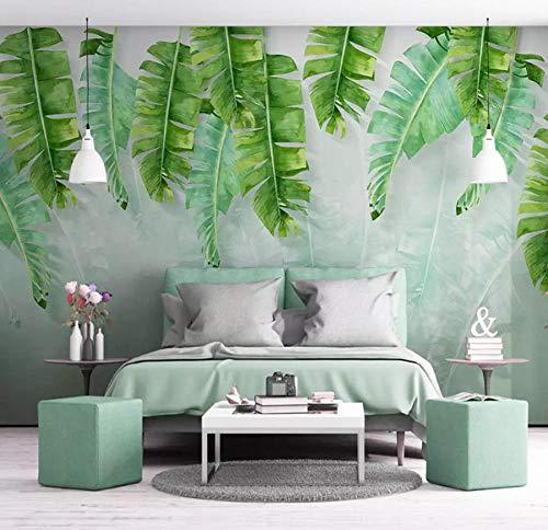 HD leinwand malerei Grün 3D wallpaper Banana leafs wohnzimmer schlafzimmer wohnkultur tapeten für wände 3 D Paisagem 3D Wall Paper wandbild