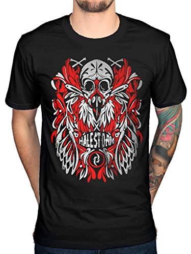 Offiziell Halestorm Feather Skull T-Shirt