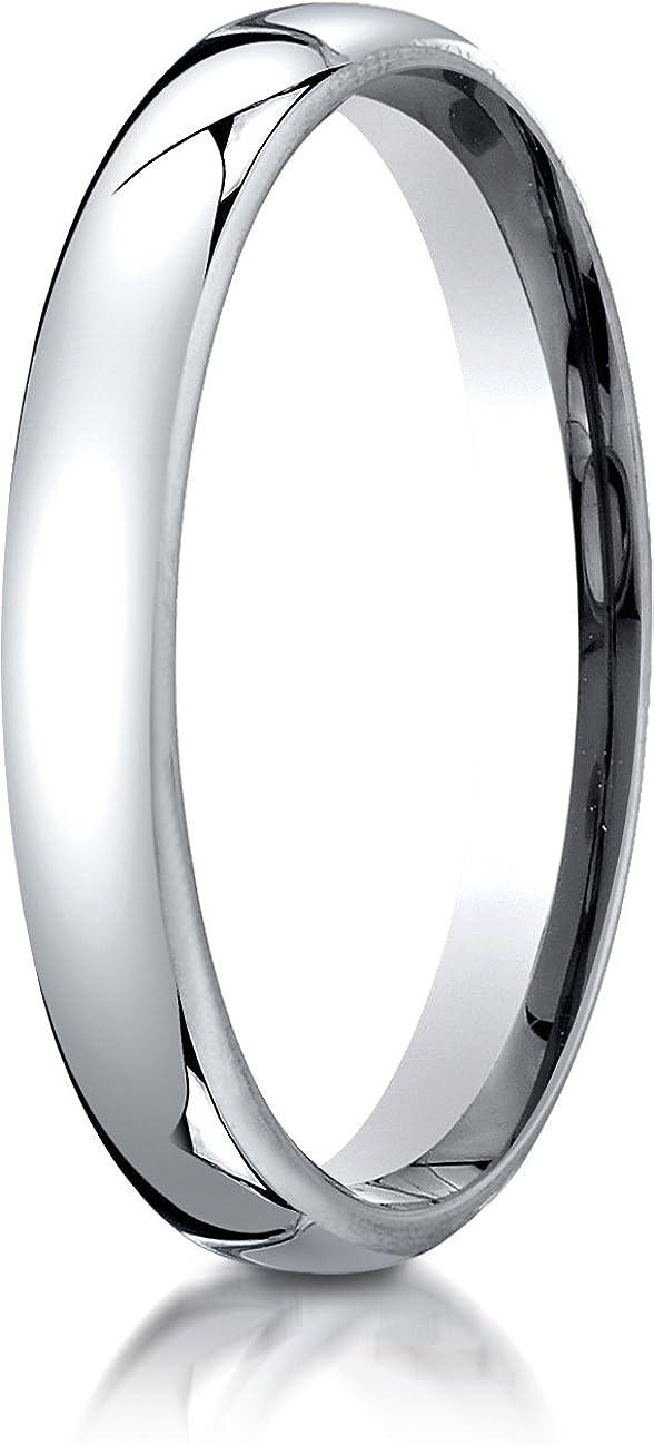 Benchmark 10K White Gold 3.5mm European Comfort-Fit Wedding Band Ring (Sizes 4-14)