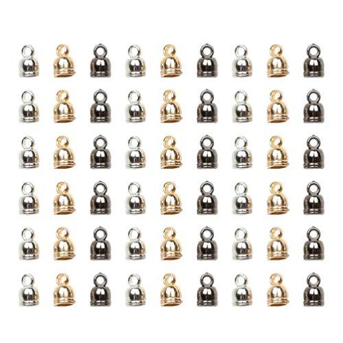 Heallily – 300 peças de contas espaçadoras soltas para colar e pulseira, 6 x 9 mm