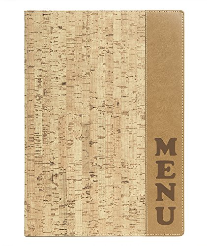 Securit menukaarten map design kurk, DIN A4, beige