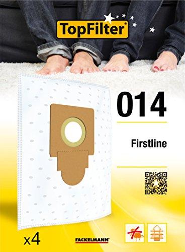 TopFilter 014, 4 sacs aspirateur pour Firstline, boîte de sacs daspiration en non-tissé, 4 sacs à poussière (30 x 26 x 0,1 cm)