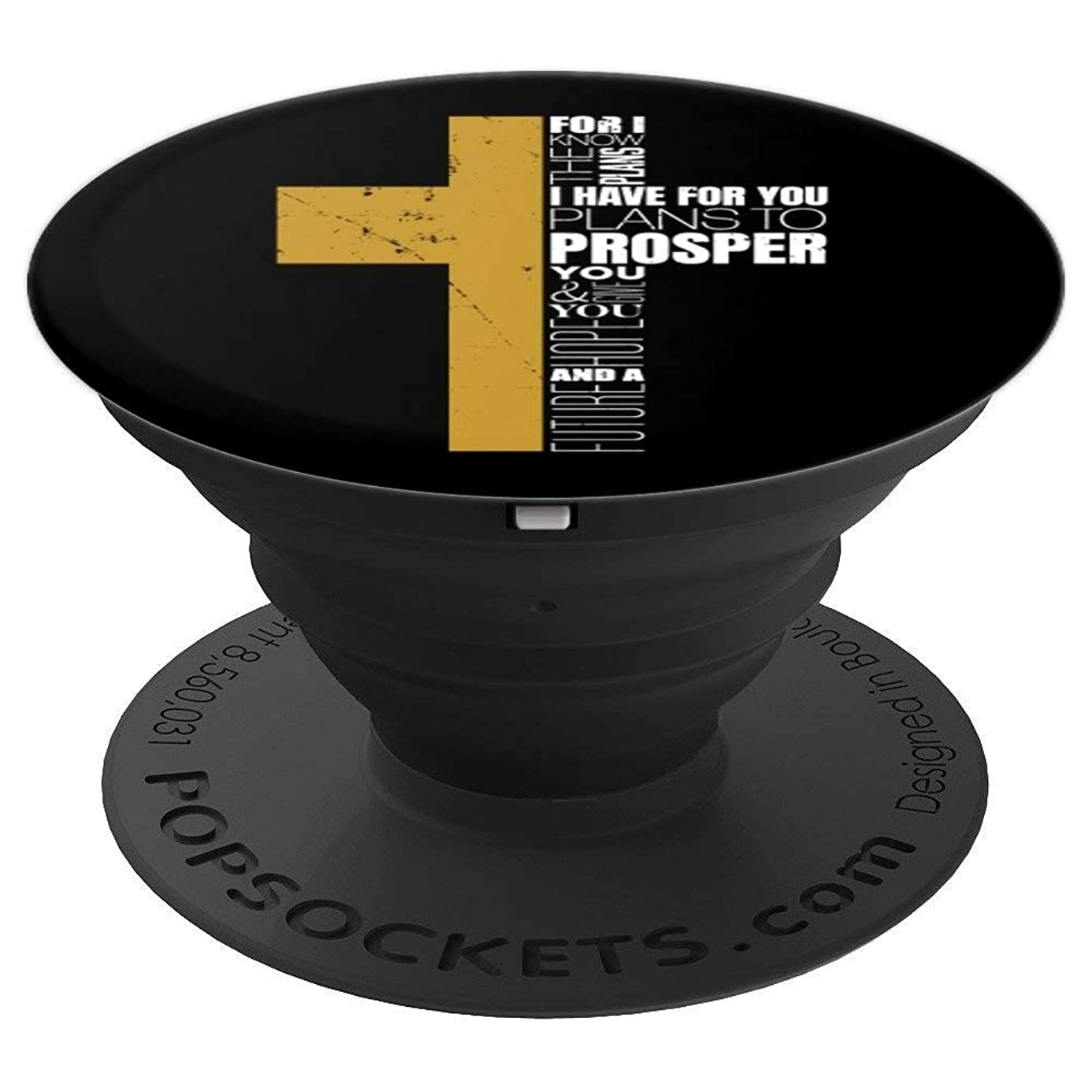 Jeremiah 29:11 Christian Cross Bible Verse Gifts Men Him - PopSockets Grip and Stand for Phones and Tablets oao5579162