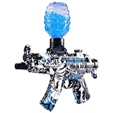 Electric Gel Ball Blaster MP-5 with Splatter Water Beads, Outdoor Activities Shooting Game (Blue)