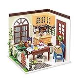 Rolife DIY Casas de Muñecas Miniaturas Madera para Montar Miniature House Maquetas para Construir Adultos Niñas y Niños 14 Años de Edad Hasta Vida maravillosa, Mrs Charlie's Dining Room