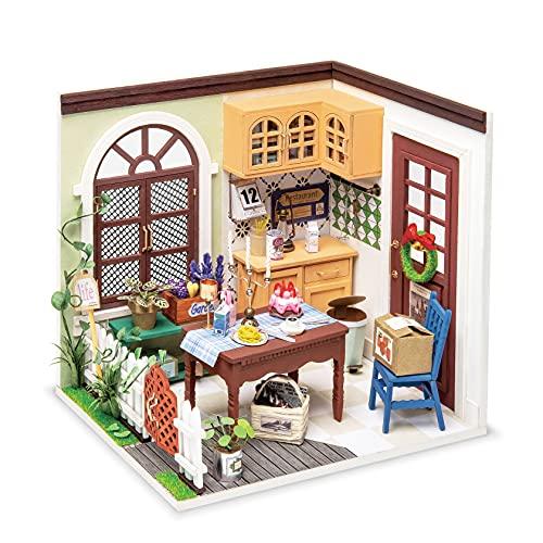 Rolife DIY Miniatur Haus Puppenhaus Kit HolzHaus Modell für Mädchen und Jungen Kinder 14+ Jahre Miniaturhaus Zum Selber Bauen Alt Wundervolles Leben, Mrs Charlie\'s Dining Room