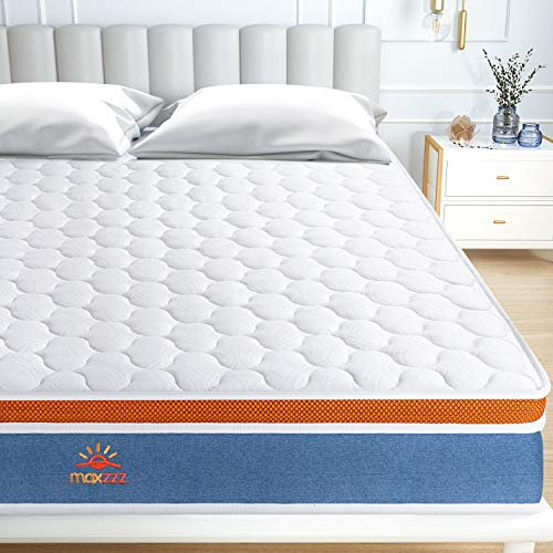 Maxzzz 4.5FT Double Mattress, Medium Firm, 8 Inch Single Bed Mattress in a Box,Advanced Motion Isolated Technology, Fire Certification & CE Certification-135 * 190 * 20cm