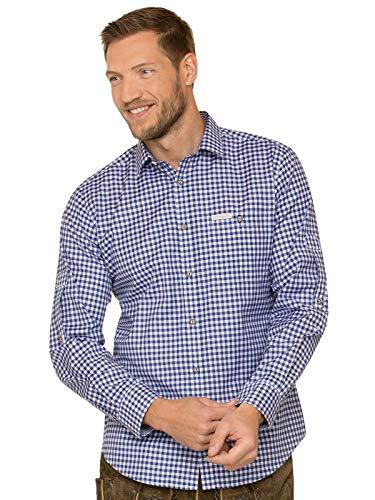 Stockerpoint Trachtenhemd Langarm Comfort Fit Campos3 blau, 2XL
