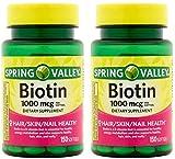Spring Valley Biotin 1000 Mcg 300 Softgels...