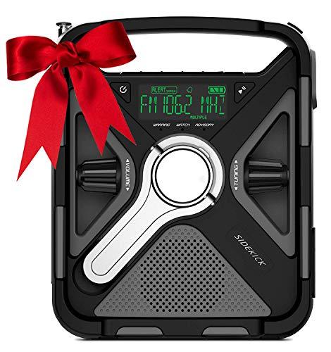 BIGMALL Camping AM/FM/NOAA-Radio Bluetooth Tragbares Solarradio USB-Hochempfang Und Klarer Lautsprecher Zum Trainieren, Gehen, Reisen Und Camping