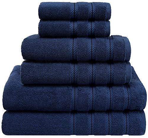 American Soft Linen Premium - Juego de toallas turcas de algodón para máxima suavidad y absorción de calidad de hotel y spa, 6 piezas