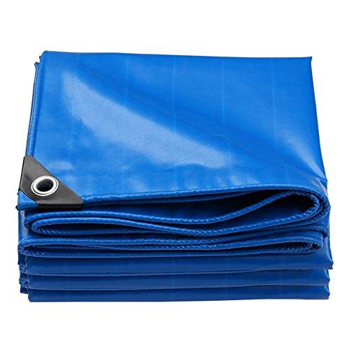QIANGDA Bâche De Protection Couverture PVC Crème Solaire Imperméable Anti-Statique Étanche À La Poussière Durable,Épaisseur 0.45mm,Bleu (Taille : 3x3M)