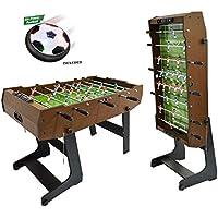 WIN.MAX WinMax FUTBOLIN con 2 Bolas, Plegable con Protección contra el Polvo, 121x61x85 Fútbol de Mesa Plegable Fútbol de Mesa