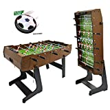 WIN.MAX WinMax foosball table incl. 2 balls, foldable with cover protection dust, 121x61x85 Foldable table football table football