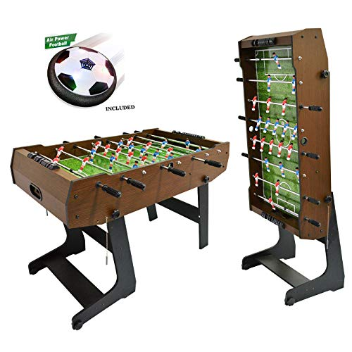 WIN.MAX WinMax Football Table incl. 2 Balls, Folding with Cover Protection Dust, 121x61x85 Foldable Table Football Foosball