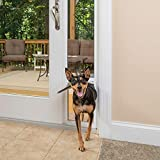 PetSafe Freedom Aluminum Patio Panel Sliding Glass Dog and Cat Door, Adjustable 76 13/16 in to 80 11/16 in - Medium White Pet Door