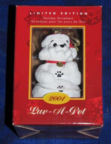 Luv-a-pet 2001 Édition limitée Snow Puppy Vacances Ornement