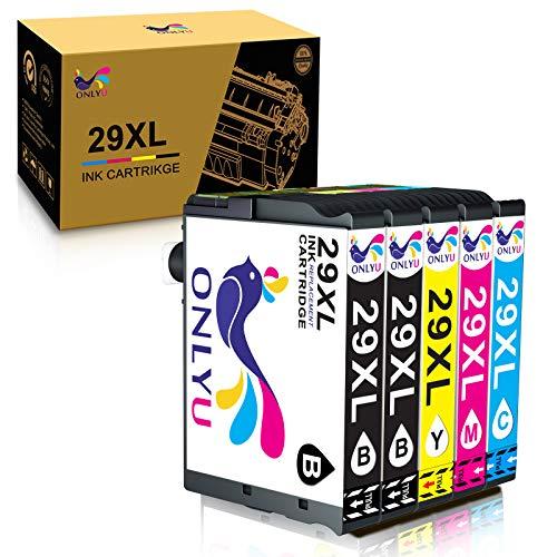 ONLYU Sostituzione cartuccia d'inchiostro compatibile per Epson 29XL 29 XL per Epson Expression Home XP-235 XP-245 XP-247 XP-330 XP-332 XP-335 XP-342 XP-345 XP-430 XP-432 XP-435 (Confezione da 5)