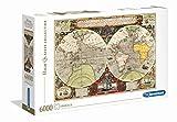 Clementoni- Puzzle 6000 Piezas Mapa Antiguo (36526.5)