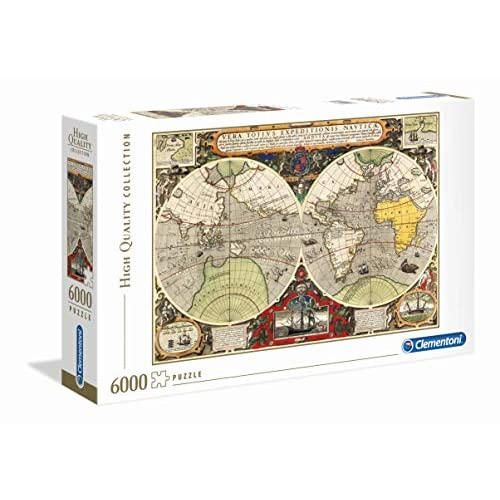 Clementoni - 36526 - High Quality Collection Puzzle - Antique Nautical Map - 6000 Pezzi - Made In Italy - Puzzle Adulto