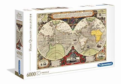 puzzle 8000 pezzi Clementoni - 36526 - High Quality Collection Puzzle - Antique Nautical Map - 6000 Pezzi - Made In Italy - Puzzle Adulto