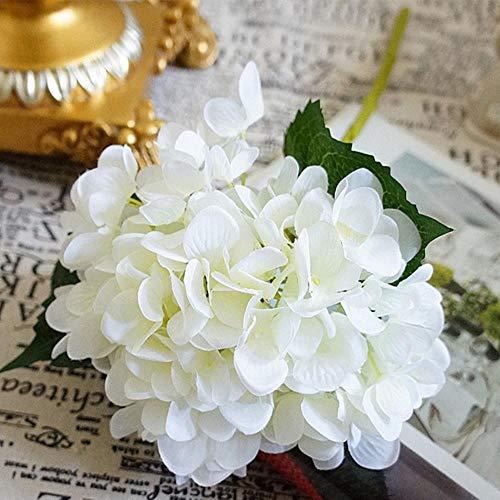 XCVB Kunstbloemen Zijden hortensia Bruid boeket bruiloft thuis nieuwjaar Decoratie accessoires voor vaas bloemstuk Kunstmatige filigraan, wit