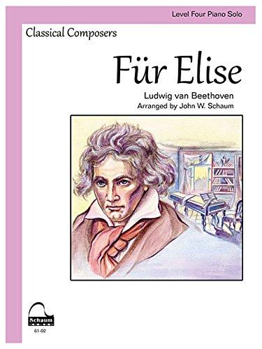Fur Elise: Level 4 Schaum Sheet (Schaum Publications Sheet Solo)