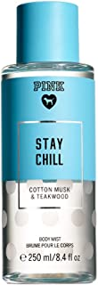 Victoria's Secret Pink Stay Chill 8.4 Ounce (250 milliliter) Body Mist Cotton Musk and Teakwood