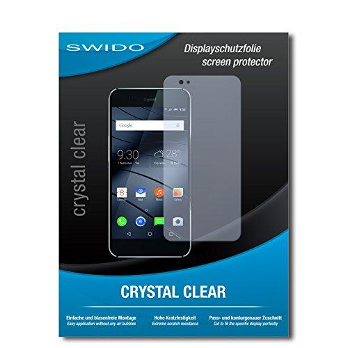 SWIDO Bildschirmschutz für Gigaset ME Pro [4 Stück] Kristall-Klar, Hoher Festigkeitgrad, Schutz vor Öl, Staub & Kratzer/Schutzfolie, Bildschirmschutzfolie, Panzerglas Folie
