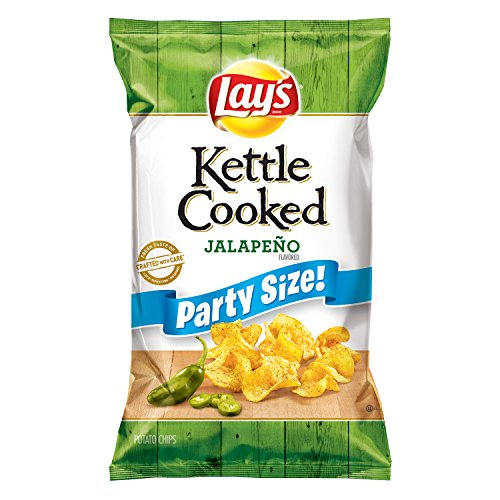 Lay's Kettle Cooked Jalapeno Flavored Potato Chips, 13.5 Ounce