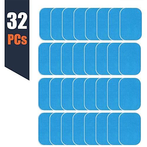 ZXL Abs Vervangende Pads, Abs Trainer Vervangende Gel Sheet Abdominale Toning Belt Spier Toner Ab Trainer Accessoires 32 Stks Gel Sheets Voor Gel Pad(2Stks/pakketten, 16Packs/Box)