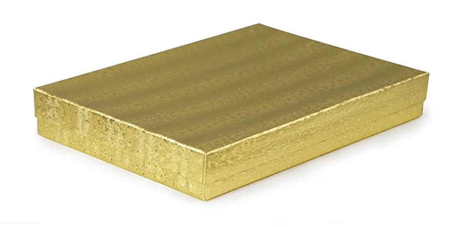Gold Foil Cotton Filled Jewelry Box #75 (Pack of 10)