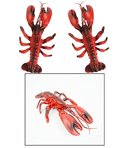 3 Hard Plastic LOBSTERS Decorations/LUAU/NAUTICAL PARTY DECOR/CLAM BAKE/BEACH/11.5' Long/SET OF Three/OCEAN LIFE