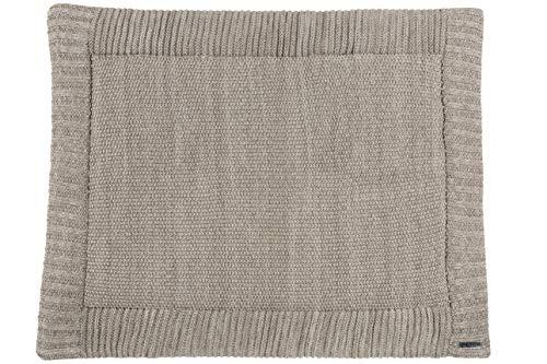 Meyco 2793081 Laufgittereinlage - Boxmatratze - Spieldecke - Grobstrick - Relief Mixed Sand-Beige - 77x97 cm