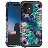 ZHK Compatible with iPhone 11 Case, noctilucous 3 Layer Heavy Duty Shockproof Case Hard PC+Silicone Rubber Hybrid Sturdy Armor Full-Body Protective Case for iPhone 11 (6.1 inch, 2019)