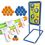 KOVEBBLE Boys Toys, Kids Indoor Toy Guns Set Home LED Auto Reset Electronic Shooting Target Kids Game Set Multi-Player Game Holiday Toys Sports Gifts for Boys Age 6 7 8 9 10+