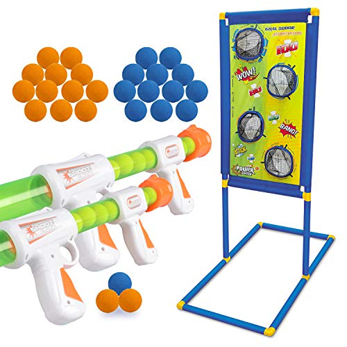KOVEBBLE Boys Toys Kids Indoor Toy Guns Set Home LED Auto Reset Electronic Shooting Target Kids Game Set MultiPlayer Game Holiday Toys Sports Gifts for Boys Age 6 7 8 9 10