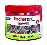 Fischer 553307 Taco Nylon, Gris Y Rojo, 8x40