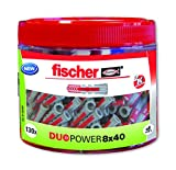 FISCHER 553307 - Taco inteligente de 2 componentes DUOTEC 8x40 ROUND BOX (Envase de 130 ud.)
