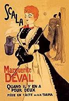 "Scal Marguerite Deval Fineアートキャンバス印刷( 20"" x30"" )"