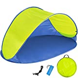 TecTake 800196 Pop Up Strandmuschel Wurfzelt 220x120x100cm mit UV Schutz