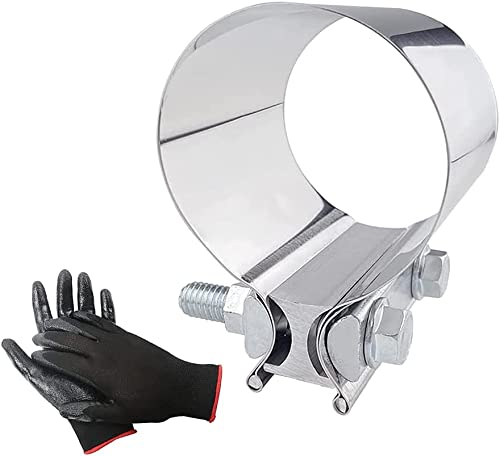 """new arrival SPELAB 2.5"""" Butt online Joint discount Stainless Steel Exhaust Band Clamp (2 packs) sale"""