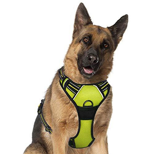Supet Arnés para Perros Chaleco Ajustable para Mascotas al Aire Libre Arnés de Material Oxford Reflectante 3M para Perros Control fácil para Perros Pequeños Medianos Grandes