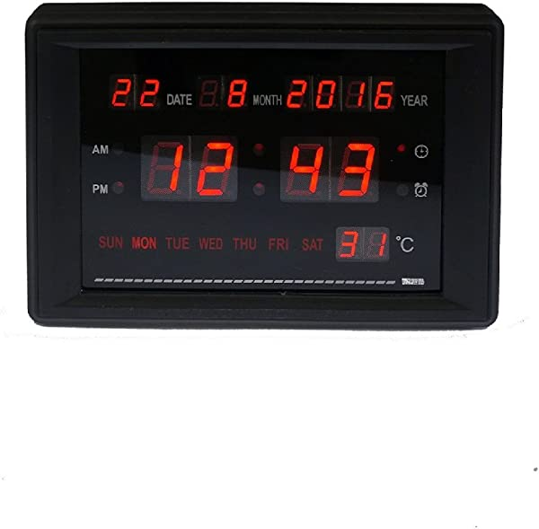 Electronic Alarm Clock LED Calendar Clock With Time Date Week And Temperature