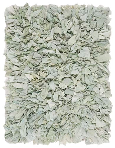Safavieh Rio Shag Collection SG951Y Handmade Decorative 3.5-inch Extra Thick Area Rug, 6' x 9', Light Green